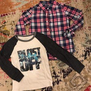 2/$25 - Boys BUNDLED Tee/Button Down Shirts - 5T